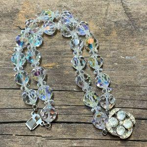 Vintage AB Crystal Double Strand Bracelet